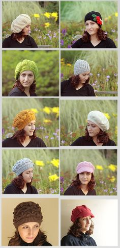 Fall 2011 trends hats and berets....  #hat #crochet #knit #handmade