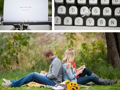 Love letter engagement photo theme. Photographs by Gina Cristine Photography