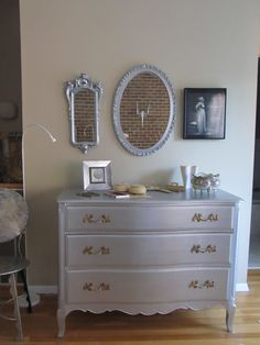 My latest renovation included a bombay chest and some mirrors.  The before on this chest is striking when contrasted.  Dorothy!