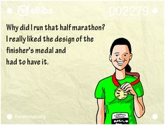 Close to number 1 #motivation for running a half marathon - #race #bling :)