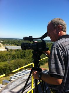 Don Anderson getting a shot of Tupelo from the top of Sunshine Mills.