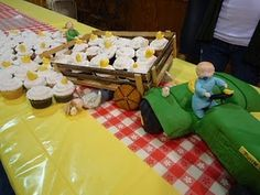 My Tractor Baby Shower Cake!