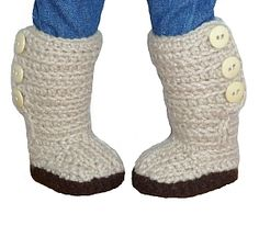 Download Mini Sweater Boots - PDF Crochet Pattern to fit American Girl Dolls Sewing Pattern | Dolls & Clothing | YouCanMakeThis.com