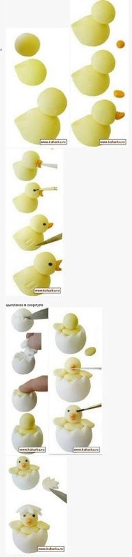 How to make a Hatching Chick in Clay / Fondant / Gum Paste - Tutorial