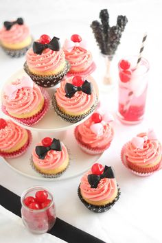 Shirley Temple Cupcakes      #sweet #cupcake #pink #food #recipe