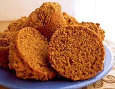 Sweet Potato Spice Muffins: A great healthy kid snack - in fact these unexpectedly light and fluffy muffins make a healthy nutritious snack food for anyone. The natural sweetness of sweet potato means that these vegan muffins don't need much sugar. The addition of cinnamon and ginger to the muffins makes them pleasingly spicy.