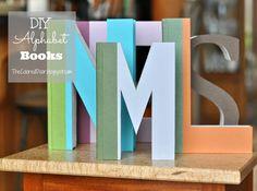 DIY Alphabet books - The Colored Door