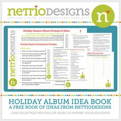 A free pdf of ideas for your December Daily.