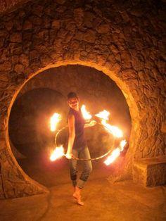 Fire Hooping