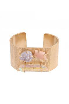 Honolua Cuff #kellywearstler #jewelry #cuff #gold #peach #moonstone