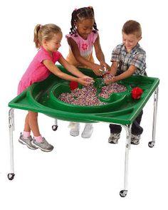 Frog pond sensory table for kids
