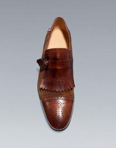 COMBINED FRINGED SHOE - Shoes - Shoes - Man - ZARA United Kingdom