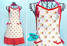 Vintage Style Apron: This links to a site that has 19 different aprons and styles that are FREE! This includes child aprons and bib/aprons for babies. Will come back for this!