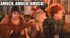 Amuck, amuck, amuck! ...one of my fav halloween movie :-)