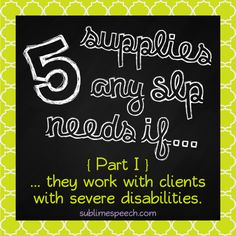 """Just launched: A new series for #SLPeeps & #SLP2b -  Part I of the """"5 supplies any SLP needs if..."""" series is on the @sublimespeech blog now!"""