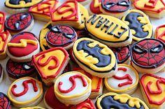 Super Hero Logo Cookies