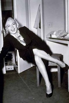 Marilyn in her dressing room during filming of How to Marry a Millionaire, 1953.