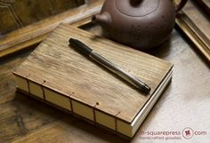 Letterpressed Paulownia Wooden Handcrafted Journal by MsquarePress, $49.95