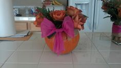 Hollowed pumpkin, thanksgiving hostess gift.