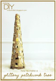 merryDIY: glittery patchwork tree