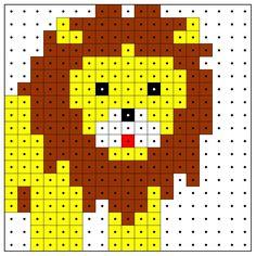 Lion hama perler pattern