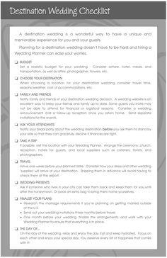 Destination wedding checklist http://burnettsboards.com/
