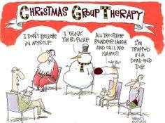 Terapia de grupo navideña ;-) #Humor #Navidad #Psicologia