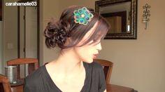 top bun how to, hair howto, ribbons, ribbon bun, bun tutori, bun sephora