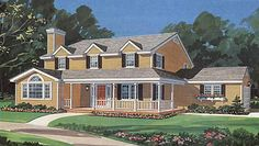 Home Plans HOMEPW13924 - 2,030 Square Feet, 4 Bedroom 2 Bathroom Farmhouse Home with 2 Garage Bays