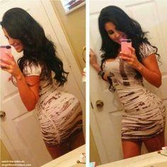 Tight dress selfshot