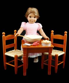 """Country Soiree Doll Table & Chair Set for 18"""" Dolls"""