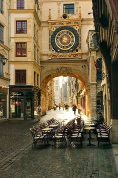 Street of Rouen !!!! paris, rouen, france, travel, places, clocks, mornings, normandy, the city