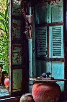 Old Thai House blend with nature outside.
