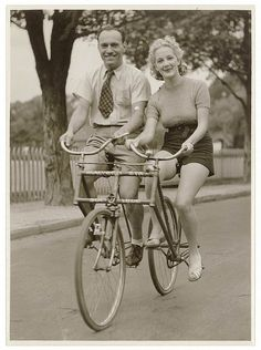 11. Bicycle built for two. #vintage #style