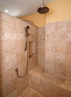 The Evangeline - Plan 1137. Luxurious walk-in shower in the master bathroom! http://www.dongardner.com/plan_details.aspx?pid=3096. #Walkin #Shower #MasterBath