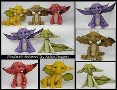 Polymer Clay Babies Dragons by KabiDesigns on deviantART