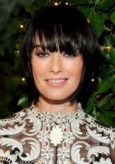Lena Headey Choppy Layered Bob Hairstyle