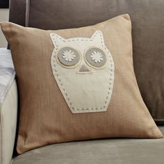 Boys or Girls room Accent Pillow: Owl Pillow Cover | west elm $29