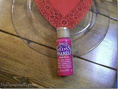 American Gloss Enamels in Razzle Berry. DecoArt has so many fun colors!