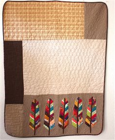 AMH Feathers quilt by Raymond K Houston | Nacho Mama's Quilt. The feathers pattern is by Anna Maria Horner.