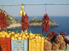 ...i prodotti della Costiera Amalfitana a Capo di Conca, in una foto di Giuseppe Di Paolo... (Roberto)