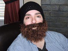 Bearded Beanie Hat.  Pattern to follow!!