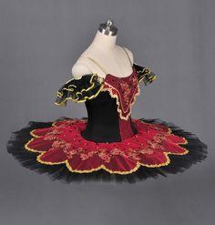 Classical Professional Ballet Tutu Paquita Don Quixote Black Red Tutu   eBay danc costum, dance costumes, classic profession, ebay, ballet costum, profession ballet, black, ballet tutus, don quixote