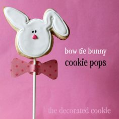 easy bunny cookie pops