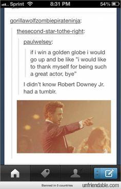 I didn't know Robert Downey Jr. had a Tumblr
