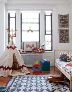 Boy's nursery. Teepee!