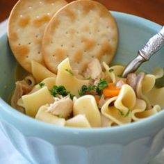 Easy Chicken Noodle Soup - Grandma was right, chicken soup really is a cure-all, especially when it can be made from start to finish in just over half an hour.