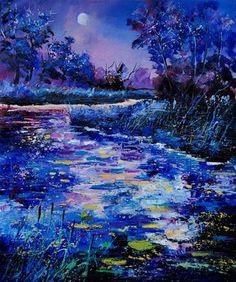 """Saatchi Online Artist Pol Ledent; Painting, """"pond 560108"""" #art"""