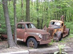 Old Tow truck and a Flat bed truck  Towing  Auto Transport Insurance www.TravisBarlow.com
