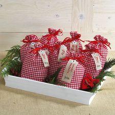 Plaid Fabric Drawstring Bags